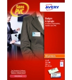Lot de 100 badges AVERY 4831 - épingles 60 x 90 mm avec inserts