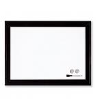 Tableau d'affichage magnétique effaçable NOBO - cadre plastique noir 585 x 430 mm