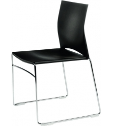 Chaise polypro multi-usages - noir