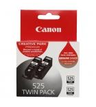 Pack 2 cartouches d'impression jet d'encre noires CANON 2x340 pages - PGI-525Twin