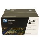 Pack 2 cartouches d'impression laser noires HP 2x10500 pages - CE250XD - 504XD