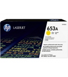 Cartouche d'impression laser jaune HP 16500 pages - CF322A - 653A