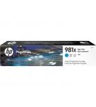 Cartouche jet d'encre cyan HP 10000 pages - L0R09A - 981X