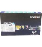Cartouche d'impression laser cyan LEXMARK 10000 pages - C748H3CG
