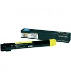 Cartouche d'impression laser jaune LEXMARK 24000 pages - C950X2YG