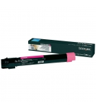 Cartouche d'impression laser magenta LEXMARK 24000 pages - C950X2MG