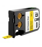 Ruban DYMO XTL - 12 mm x 7 m - noir/jaune
