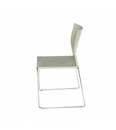 Chaise polypro multi-usages - blanc
