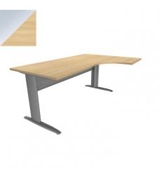 ba8d86597d50b Table de bureau compact Idol 160 x 60 cm retour gauche - voile de fond métal