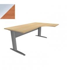 table de bureau compact idol 160 x 60 cm retour gauche voile de fond m tal pommier alu. Black Bedroom Furniture Sets. Home Design Ideas