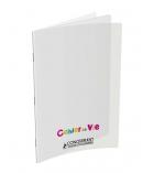 Cahier de vie agrafé polypro CONQUERANT Classsique 96 pages 24 x 32 cm ligné 8 mm