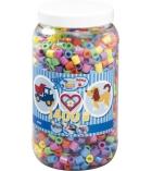 Pot d'environ 1400 perles maxi à repasser plusieurs tailles dès 5 ans - assortiment pastellisées