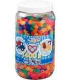 Pot d'environ 1400 perles maxi à repasser plusieurs tailles dès 5 ans - assortiment néon