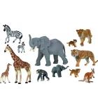 Lot de 12 jouets les animaux du zoo dès 3 ans