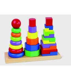 Formes géométriques de couleur à empiler dès 2 ans