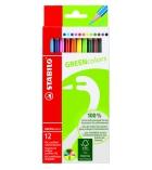 Etui de 12 crayons de couleur STABILO Greencolor