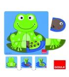 Puzzle 3 niveaux GOULA 8 pièces La grenouille dès 2 ans