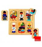 Puzzle bois 12 pièces GOULA Les métiers dès 2 ans