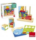 Puzzles 9 cubes en bois GOULA La mer dès 3 ans