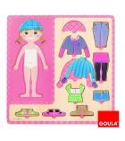 Puzzle bois 10 pièces GOULA personnages à habiller Petite fille dès 3 ans