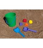 Ensemble 7 pièces pour bac à sable : seau, pelle, râteau, moules - dès 1 an
