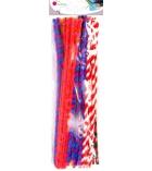 Lot de 50 chenilles twist Ø 6 mm longueur 30 cm - assortiment
