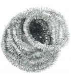 Echeveau chenille pailletée Ø 6 mm longueur 10 m - argent