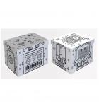 """Lot de 2 boîtes de rang imprimées """"robot"""" en carton 35 x 45 x 29 cm"""
