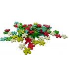 Sachet de 100 perles de bois forme fleurs 21 x 3 mm - multicolore