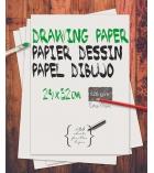 Paquet de 125 feuilles à dessin blanches 24 x 32 cm 120g