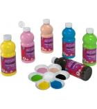 Lot de 6 flacons de peinture acrylique LEFRANC & BOURGEOIS 500 ml - couleurs vitaminées