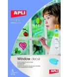Pochette de 5 feuilles APLI de film transparent pour fenêtre vitrophanie - A4