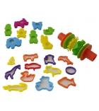 Sachet d'accessoires pour modelage : moules, emporte-pièces, rouleau
