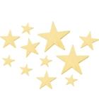Lot de 11 étoiles en bois à décorer - tailles assorties