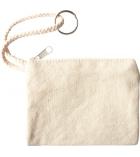Porte-monnaie avec anneau en coton à décorer 11,5 x 9 cm