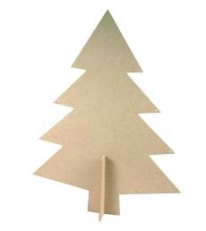 Lot de 6 sapins de Noël en médium à décorer 15 x 20 cm