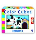 Puzzle cubes bois 6 pièces La ferme dès 2 ans