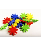 Seau en plastique de 72 pièces jeu de construction Girasol dès 2 ans