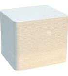 Lot de 100 sous verre carrés en bois à décorer 9,3 x 9,3 cm