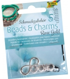 """Assortiments de 5 charms pour Stretch'n'roll """"Rose gold"""""""