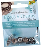 """Assortiments de 5 charms pour Stretch'n'roll """"Feather"""""""