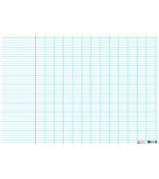 Tableau souple effaçable à sec séyès avec marge 98 x 138 cm