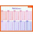 "Fiche mémo recto/verso ""additions/multiplications"" 20,5 x 26,5 cm"