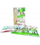 """Stickers en epoxy Ma p'tite histoire """"les contes"""" + 2 décors plastifiés"""
