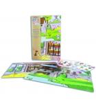"""Stickers en epoxy Ma p'tite histoire """"la ferme"""" + 2 décors plastifiés"""