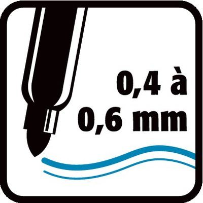 0,4 à 0,6 mm