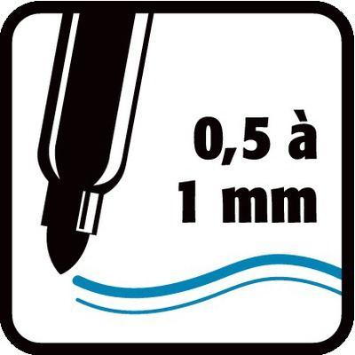 0,5 à 1 mm