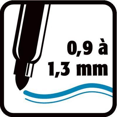 0,9 à 1,3 mm