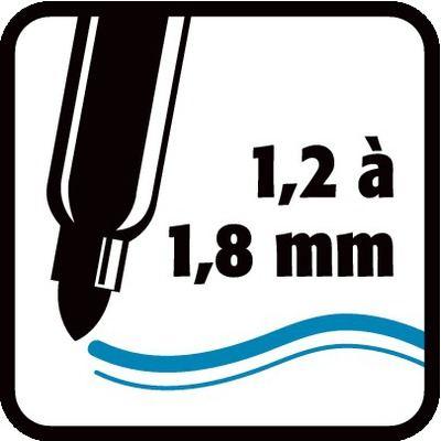 1,2 à 1,8 mm