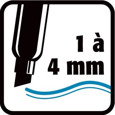 1 à 4 mm